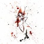Szarvasbogár - tus, golyóstoll, papíron, 21x29,7 cm